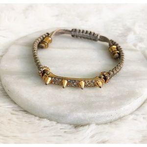 Vince Camuto Gold Rhinestone Drawstring Bracelet